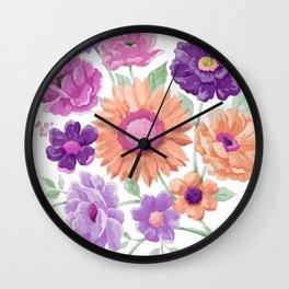 Blooms Blooms Blooms Wall Clock