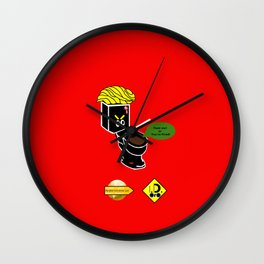 Dump in Toilets with Dirty Suites Wall Clock