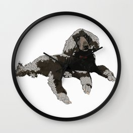 Too Cool Poodle Wall Clock