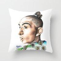 ahs Throw Pillows featuring Pepper -AHS by MELCHOMM