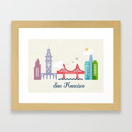 what a colorful city San Francisco, CA.  Framed Art Print