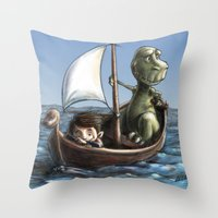 voyage Throw Pillows featuring Voyage by Allan McInnes