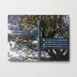 Park Signpost Metal Print