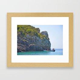 Corfu at Work Framed Art Print