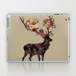Spring Itself Deer Flower Floral Tshirt Floral Print Gift Laptop & iPad Skin