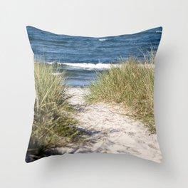 Sand Dune of Island Ruegen Throw Pillow