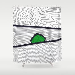 Landscape with Green Horse Chestnut Tree Shower Curtain