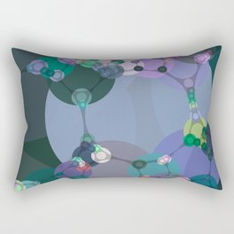 ariel - abstract design of teal emerald green lilac pale blue periwinkle Rectangular Pillow