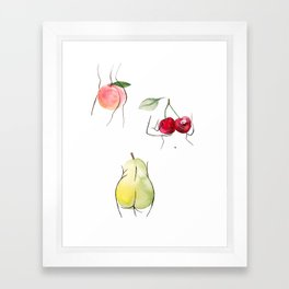 fruity ladies Framed Art Print