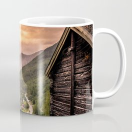 Fjord at sunset Coffee Mug