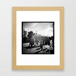Golden Dragon Parade Framed Art Print