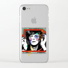 King Bowie Clear iPhone Case