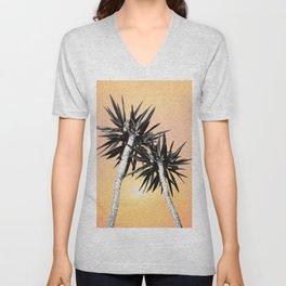 Cali Summer Vibes Palm Trees #2 #tropical #decor #art #society6 Unisex V-Neck