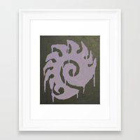 starcraft Framed Art Prints featuring For the Swarm by leafindawind