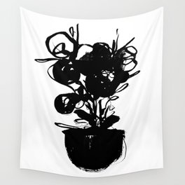 flower pot 001 Wall Tapestry