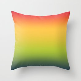 Abstract Colorful Tropical Blurred Gradient Throw Pillow