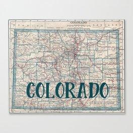 Colorado Map Canvas Print