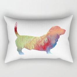 Basset Hound Rectangular Pillow
