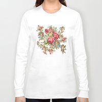 vintage flowers Long Sleeve T-shirts featuring vintage  by mark ashkenazi