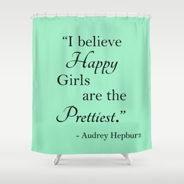 Happy Girls - Mint Shower Curtain