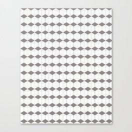 gray geometric pattern. Home decor Graphicdesign Canvas Print