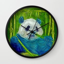 abstract panda Wall Clock