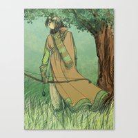 archer Canvas Prints featuring Archer by Ana Elisa Granziera