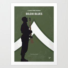 No1095 My Biloxi Blues minimal movie poster Art Print