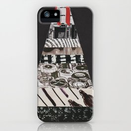 Black and White Christmas Tree iPhone Case
