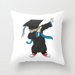 Graduation - Cool Graduation Dab Dabbing Senior Throw Pillow