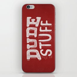 Dude Stuff iPhone Skin