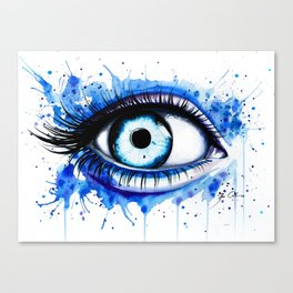 """Her blue eye"" Canvas Print"