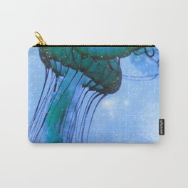 Blue Glow Jelly Fish Carry-All Pouch