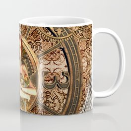 Steampunk, beautiful steam women Coffee Mug