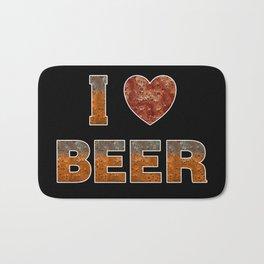 I Love Beer Bath Mat