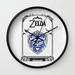Zelda legend - Hylian shield Wall Clock
