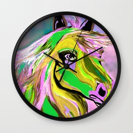 Horse Posing Pretty Oil Wall Clock
