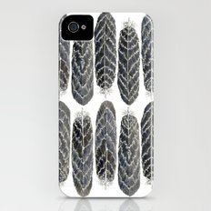 Black Stripe Feathers iPhone (4, 4s) Slim Case