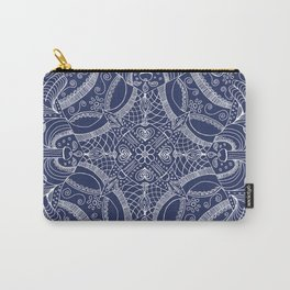 Doodles & Bits Lacy Blue Bandana Carry-All Pouch