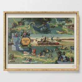 The adventures of Huckleberry Finn from the book by Mark Twain Serving Tray