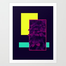 Neon Bush #society6 #retro Art Print