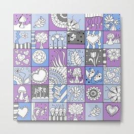 Inchie Doodle Design - Lavender Blue - Spring Metal Print