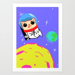 Chrissy in Space Art Print
