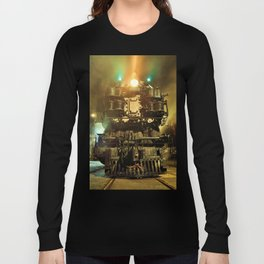 UP 9000. Union Pacific. Steam Train Locomotive. © J&S Montague. Long Sleeve T-shirt