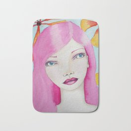 Bella SASS Girl - Pink - SASS = STRONG and SUPER SMART Bath Mat