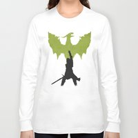 dragon age inquisition Long Sleeve T-shirts featuring Dragon Age: Inquisition V2 by FelixT