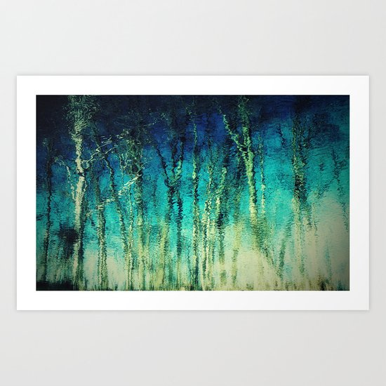 forest reflected Art Print