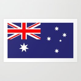 Flag of Australia Art Print