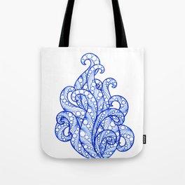 Blue ultramarine sea flourishes Tote Bag