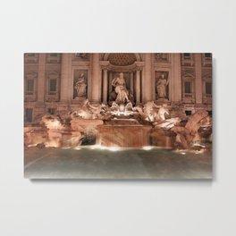Make a Wish at Trevi Fountain Metal Print